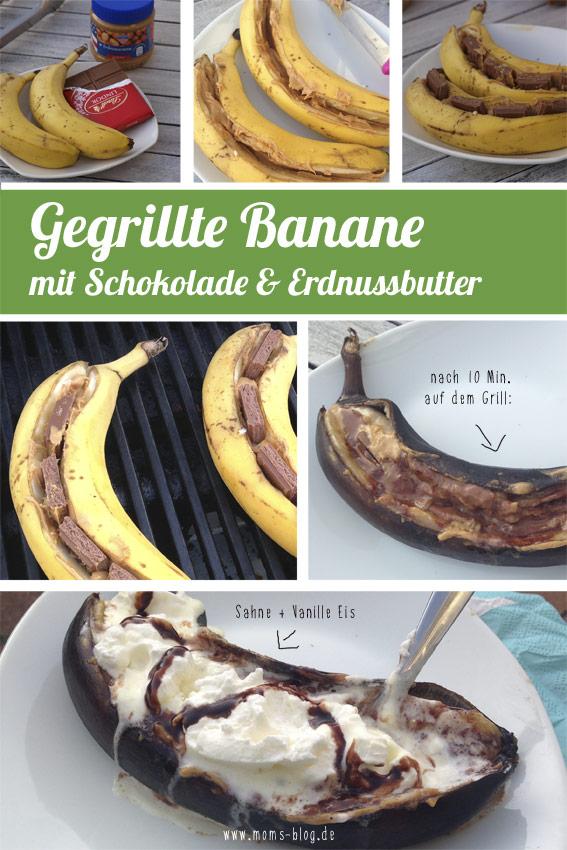 genial einfach gegrillte banane mit erdnussbutter und schokoladenf llung. Black Bedroom Furniture Sets. Home Design Ideas