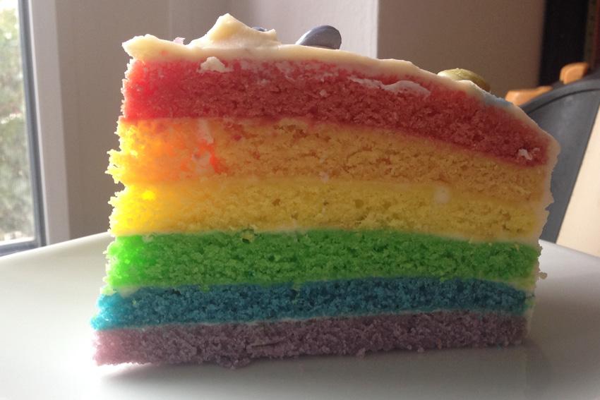 Super Einfaches Rezept Fur Einen Rainbow Cake Regenbogen Kuchen