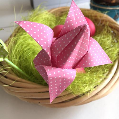 einfache_blume_origami_osterdeko