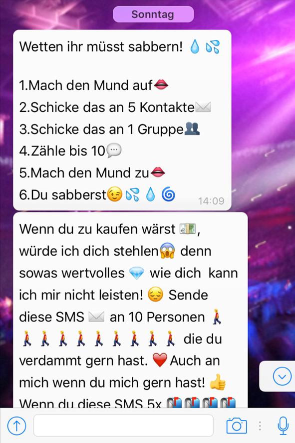 Whatsapp Kettenbrief Wie Findest Du Mich Whatsapp Spiel
