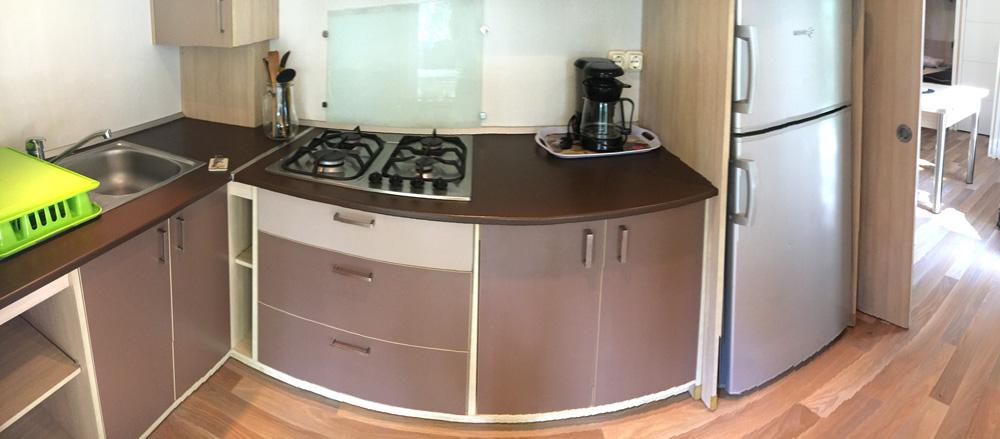 Küche im Mobilheim