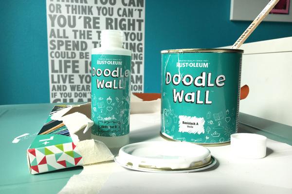 Doodle Wall Idee Whiteboard Farbe