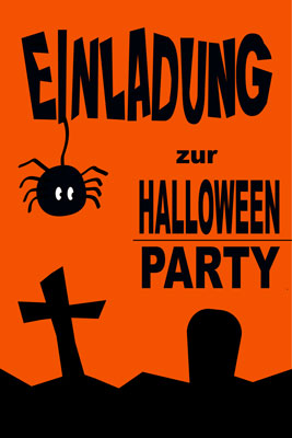 Halloween Party Einladung