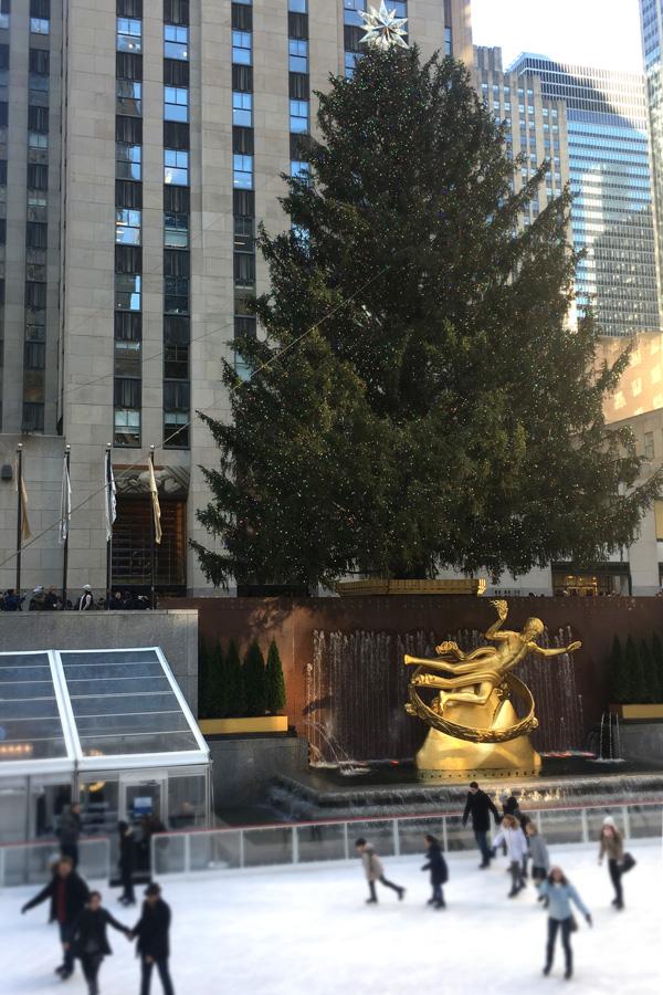Eislaufen vor dem Rockefeller center