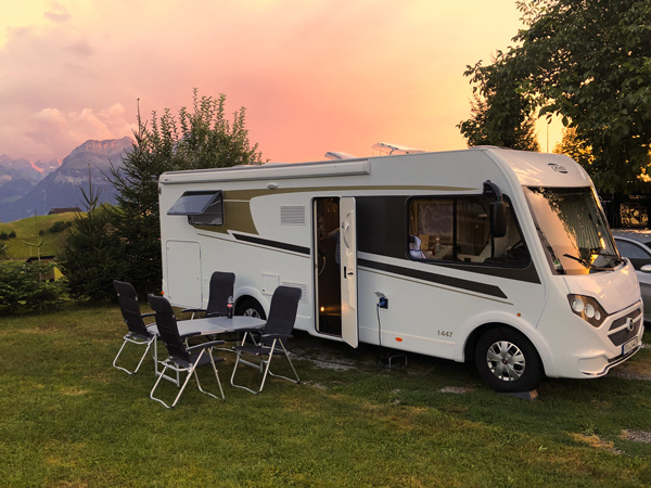 Wohnmobil Tour Familie Schweiz